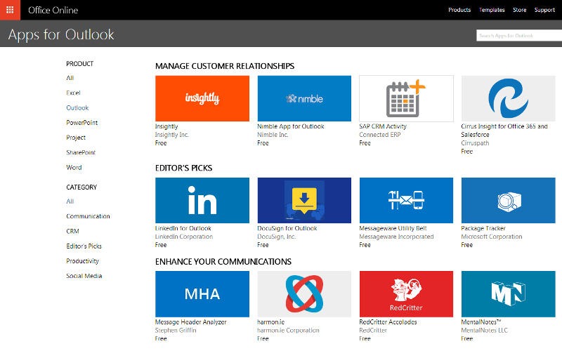 Apps for Outlook