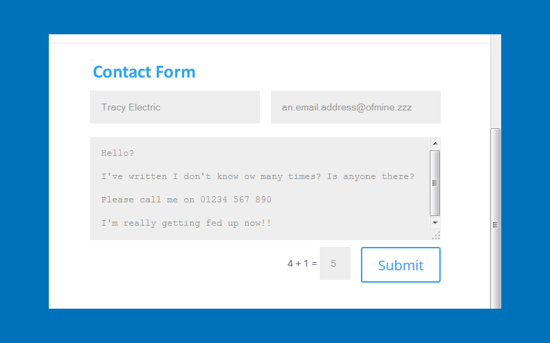 WordPress, contact forms, & the smoking gun