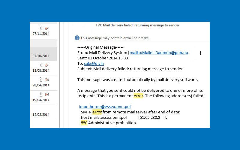 Email blacklisting