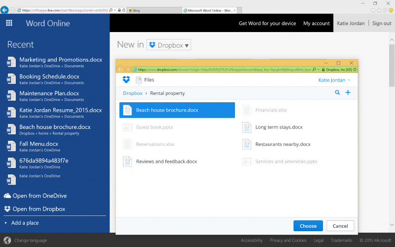 Saving Office 365 & Dropbox