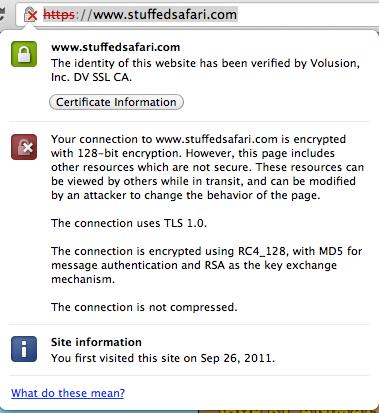 ssl certificate advisory