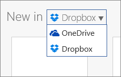 creating new file for dropbox using Office 365