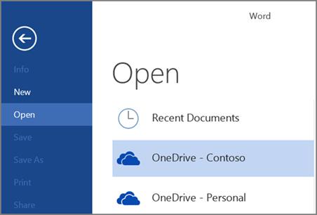 open a file in onedrive