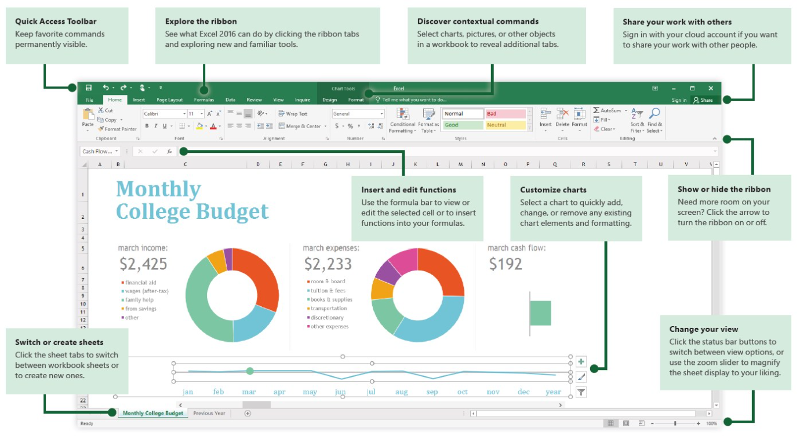 excel 2016 quick start guide for windows