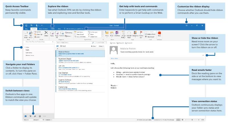 Outlook 2016 Quick Start Windows