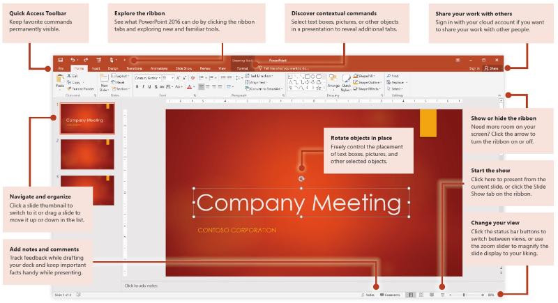 powerpoint 2016 quick start guide windows
