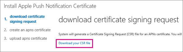 mdm APNs certificate