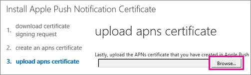 mdm upload APNS